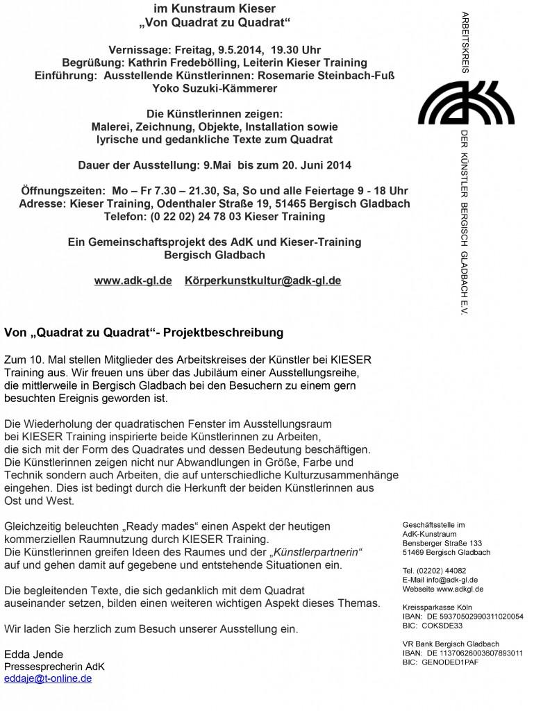 AdK • Bensberger Straße 133 • 51469 Bergisch Gladbach