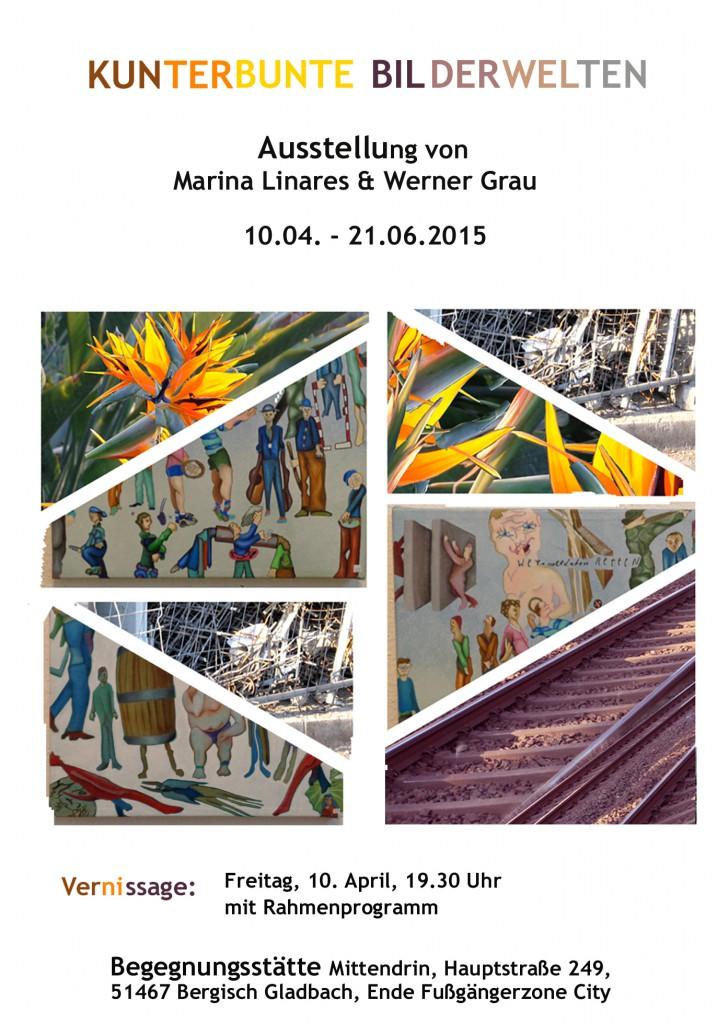 Flyer Linares-Grau Kunterbunter Bilderwelten