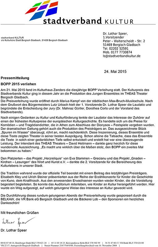 Die Preisträger – Stadtverband Kultur e.V.