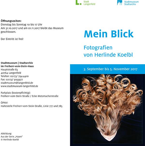 Mein Blick – Fotografien von Herlinde Koelbl