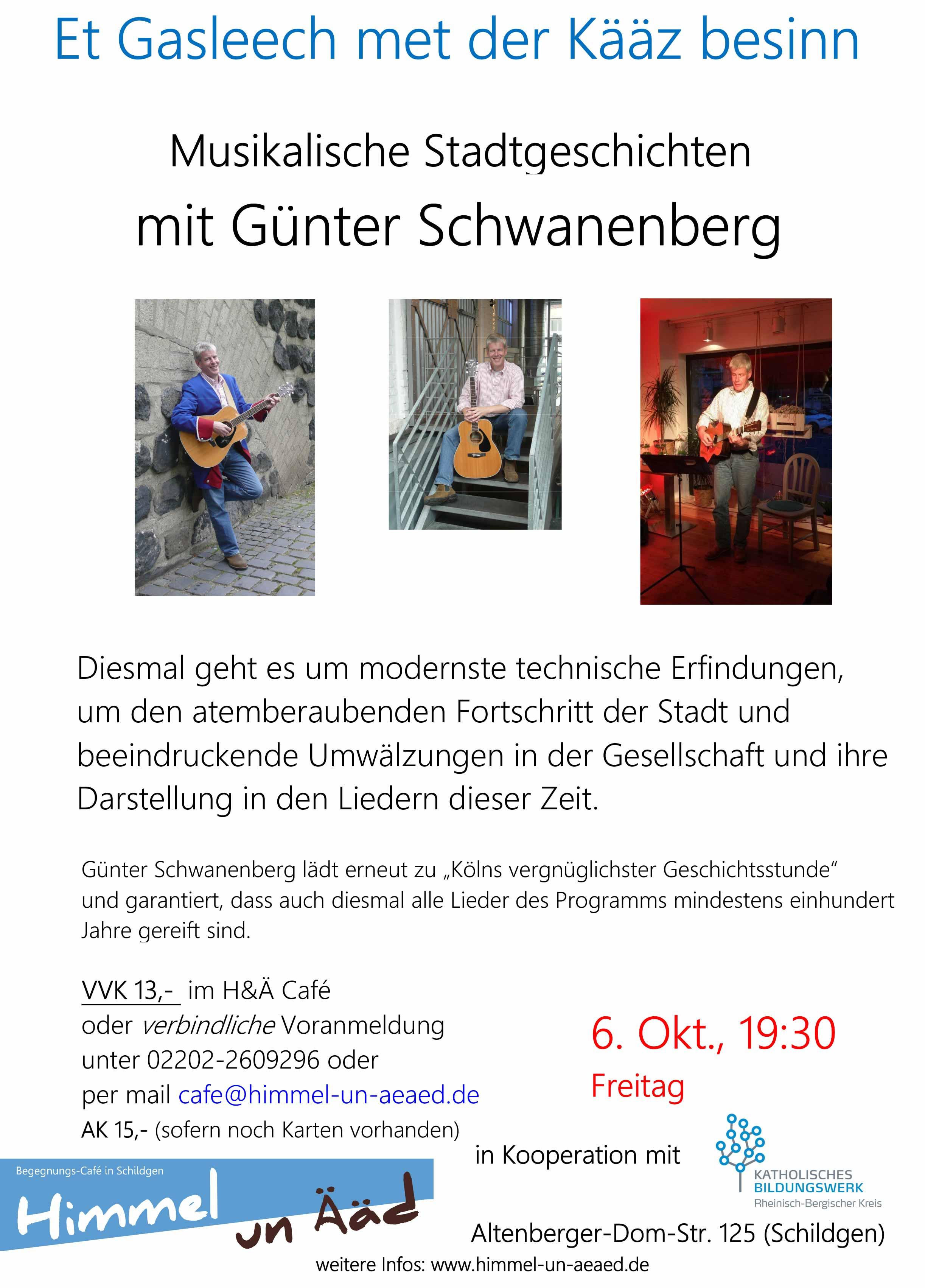 """Musikalische Stadtgeschichten: """"Et Gasleech met der Kääz besinn"""""""