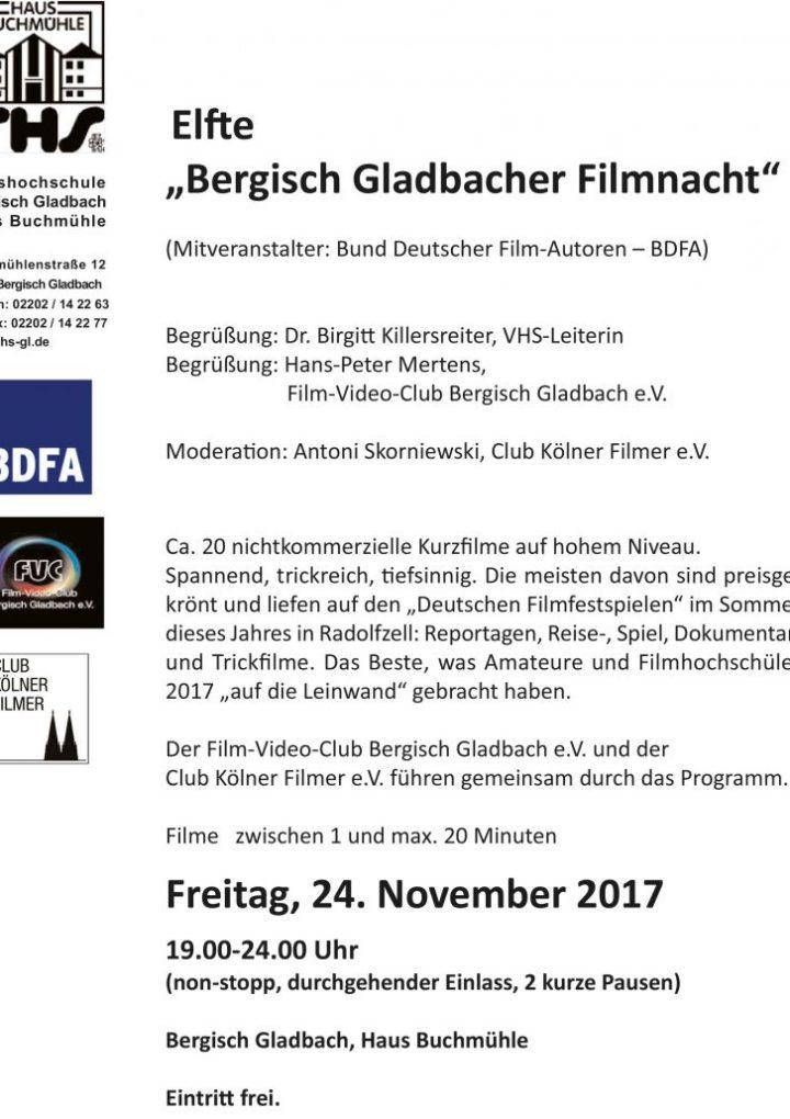 """11. """"Bergisch Gladbacher Filmnacht"""""""