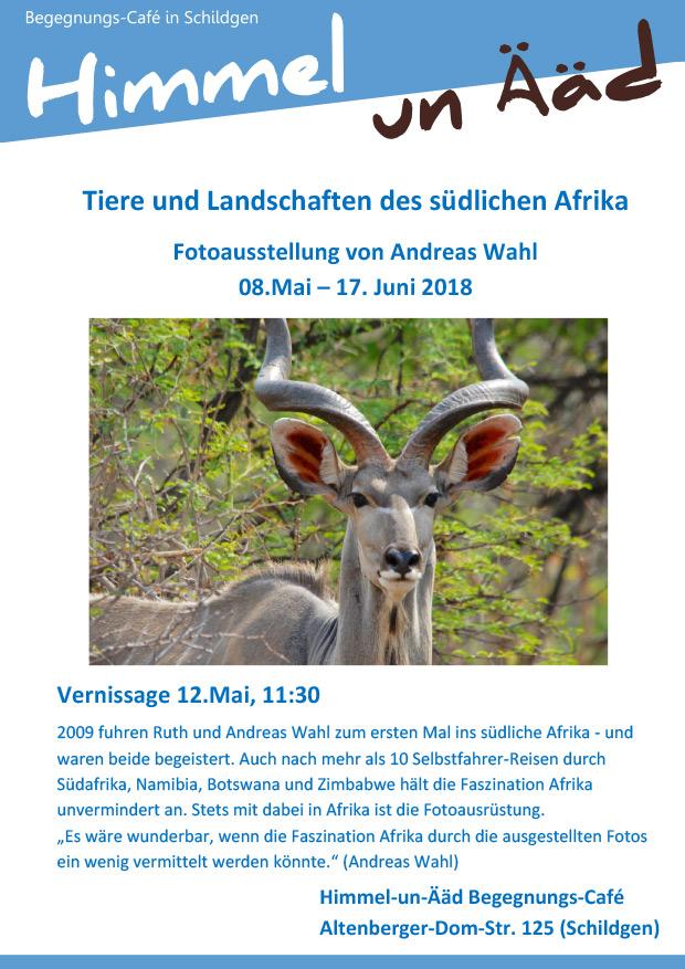 Tiere und Landschaften des südlichen Afrika: Fotoausstellung von Andreas Wahl