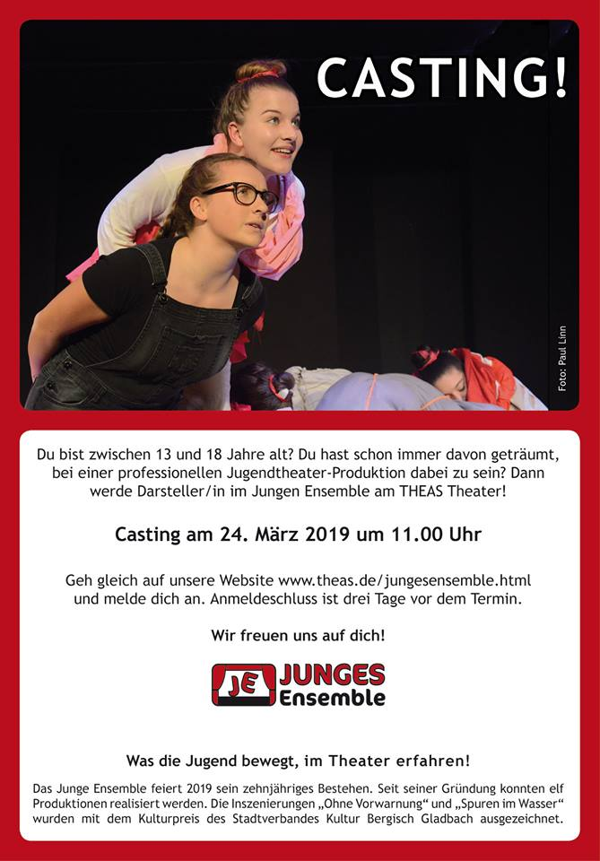 THEAS THEATER – Casting Junges Ensemble