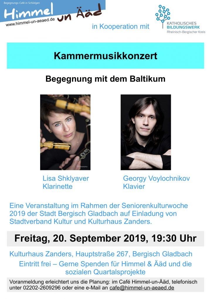 Kammermusikkonzert – Begegnung mit dem Baltikum   im Kulturhaus Zanders