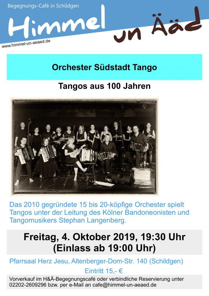 Orchester Südstadt Tango spielt Tangos aus 100 Jahren