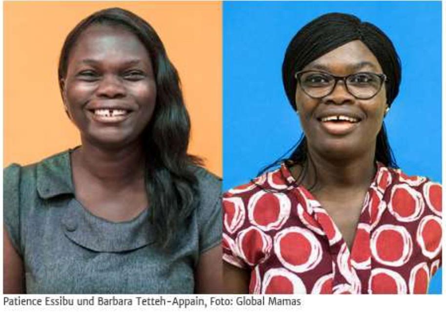 Spannender Besuch im H&Ä – anlässlich der bundesweiten FAIREN WOCHE. Zwei Vertreterinnen der Fair-Handels-Organisation Global Mamas aus Ghana auf Vortragsreise durch Deutschland berichten aus erster Hand.